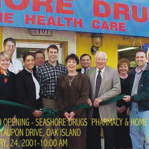 Grand opening of Seashore Drugs in Oak Island, NC. 2001