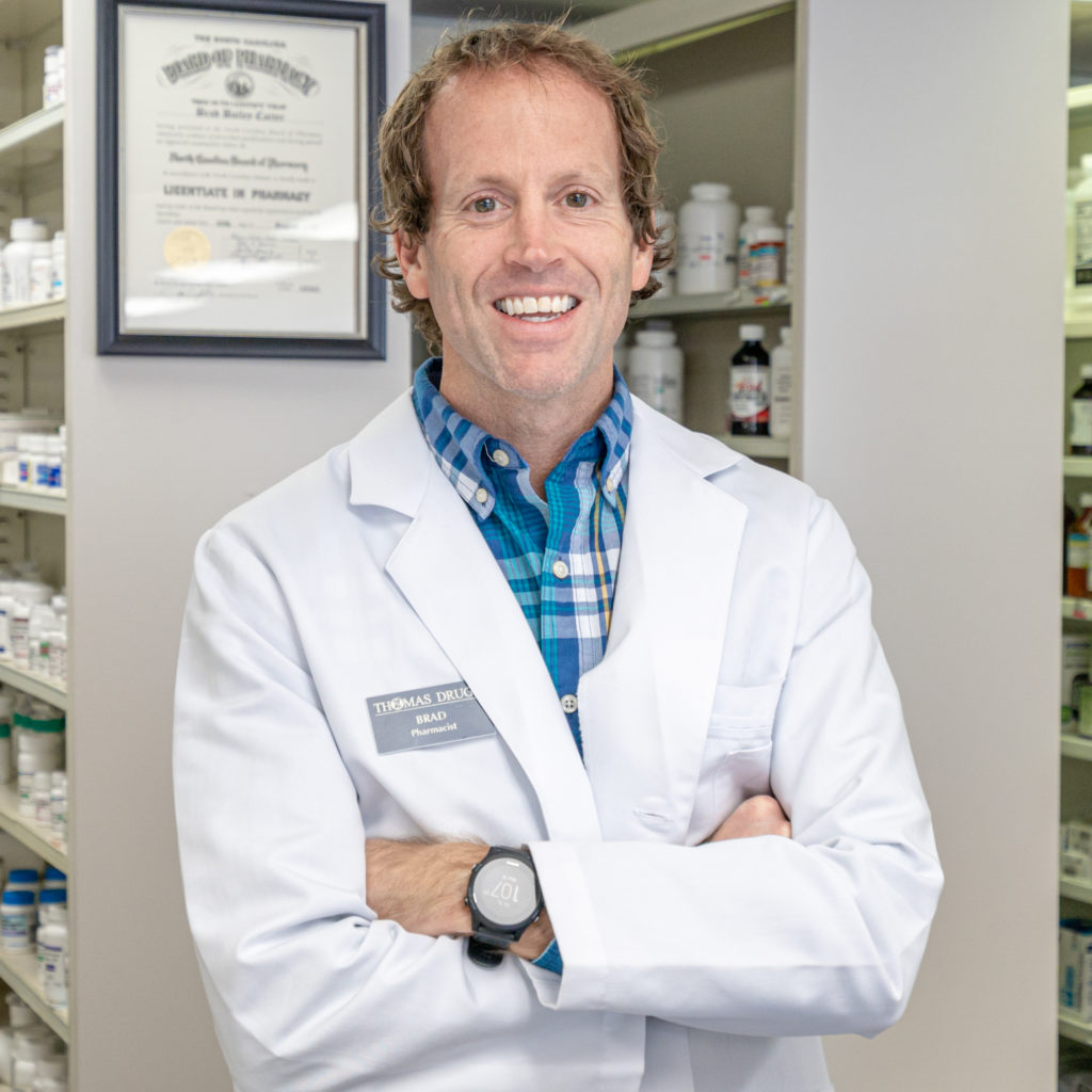 Brad Carter pharmacist at Thomas Seashore Drugs Shallotte, NC