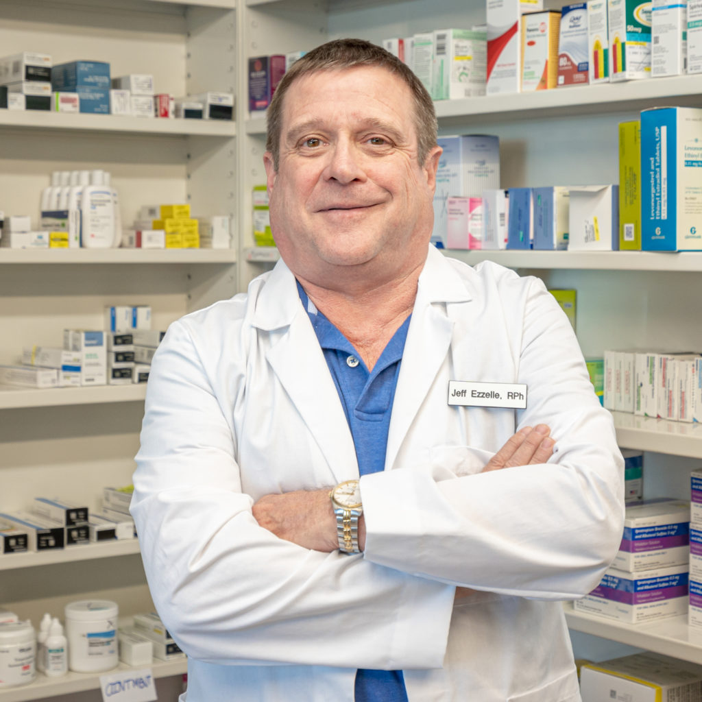 Jeff Ezzelle pharmacist at Thomas Seashore Drugs Oak Island, NC pharmacy