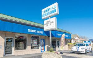 shallotte pharmacist, image of Thomas Drugs store front