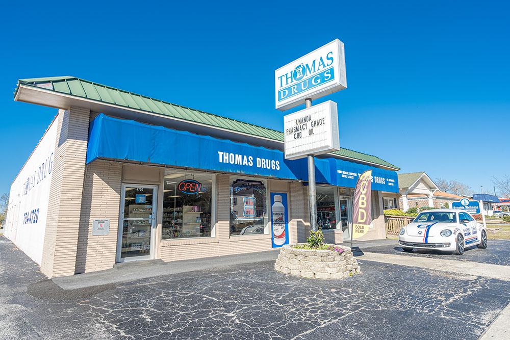 shallotte nc, pharmacy, image of Thomas Drugs store front