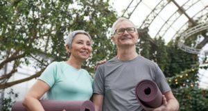 Sildenafil, image of a couple holding yoga mats.